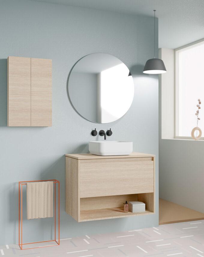 Mueble de baño + Lavabo Cerámico NIWA