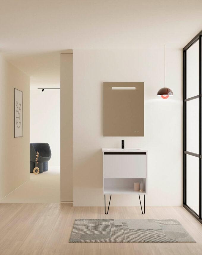 Mueble de baño + Lavabo Cerámico YOKO